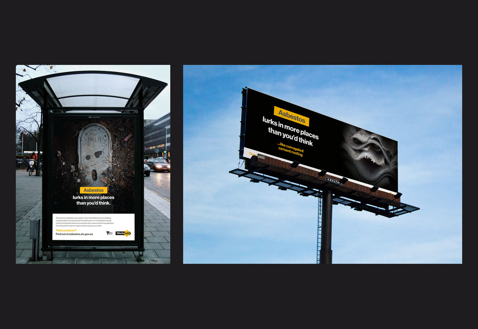 Worksafe Victoria Asbestos Campaign Mockup Assets
