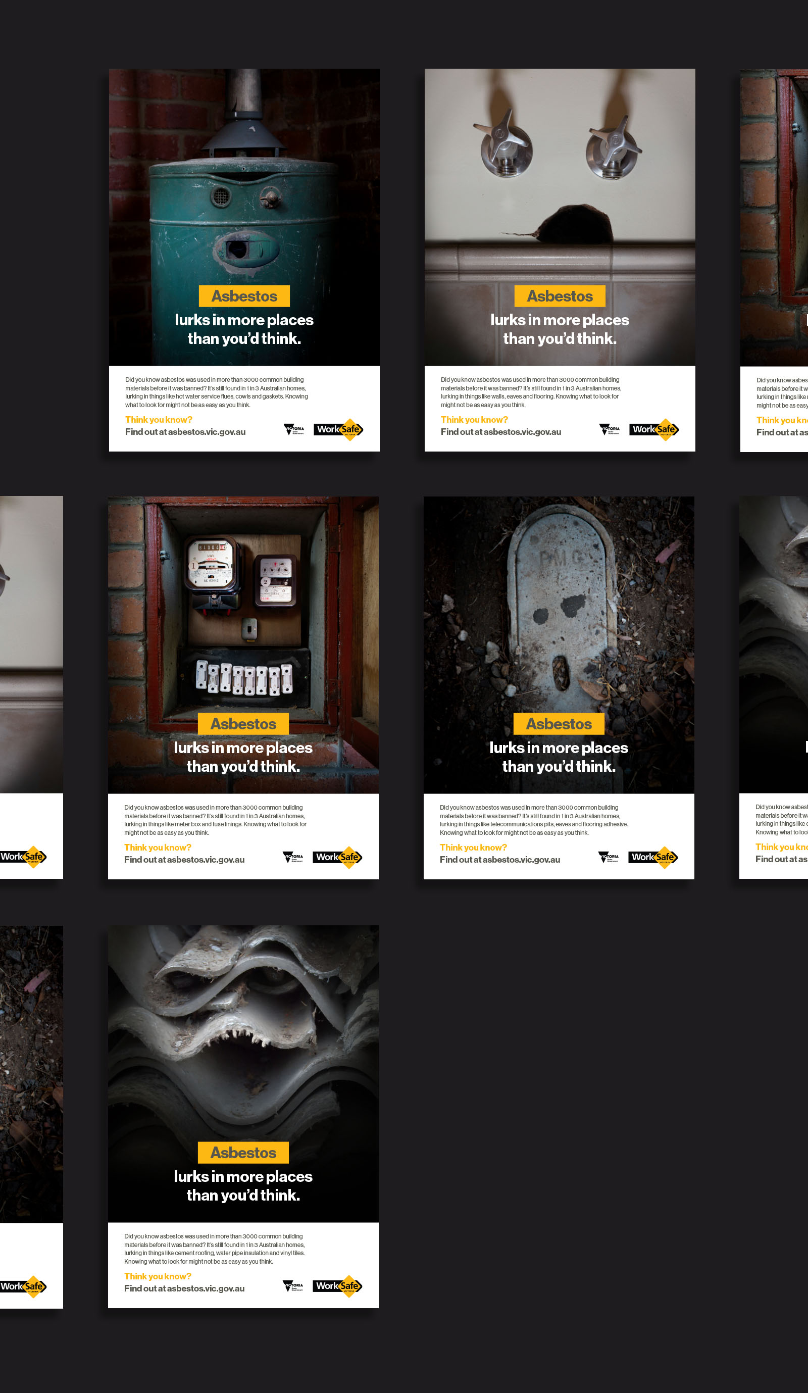 Worksafe Victoria Asbestos Campaign Imagery