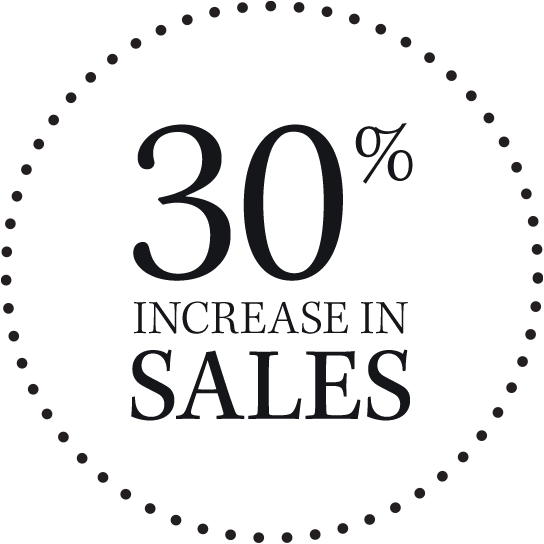 30% increase in sales graphic