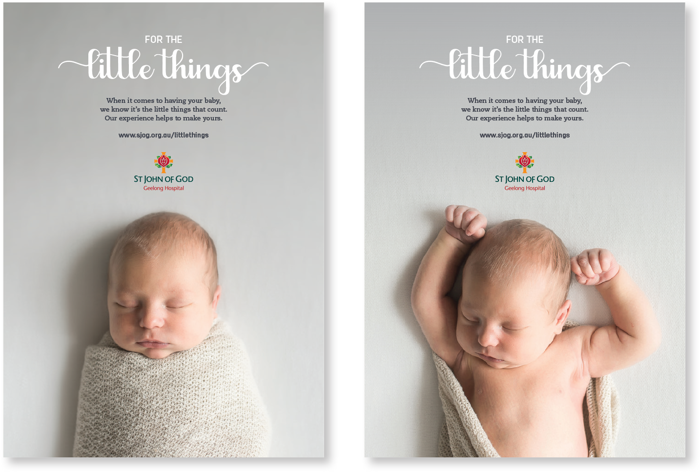 St John of God Maternity Campaign Posters